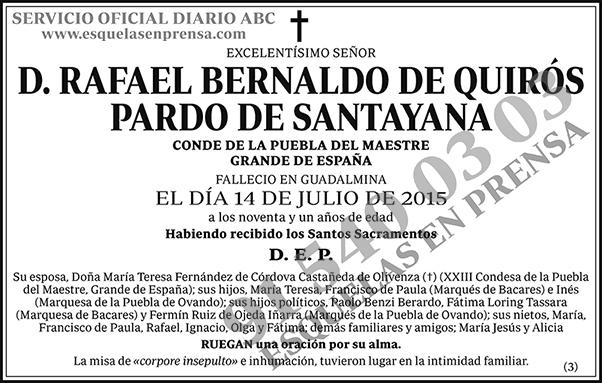 Rafael Bernaldo de Quirós Pardo de Santayana